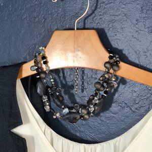 Jewelry - Indigo blue stones, slate pearlescent and glass